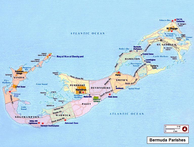 TravelPix Bermuda – Bermuda Tourist Map