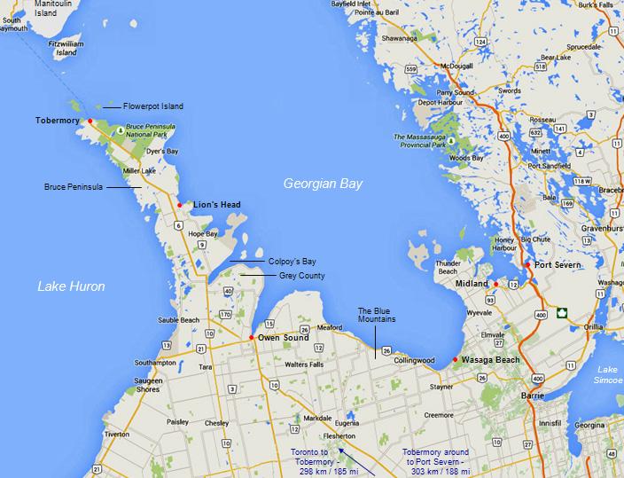 Map Of Georgian Bay Map Of Georgian Bay | compressportnederland Map Of Georgian Bay