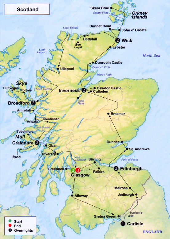 TravelPix Scotland – Travel Map Of Scotland