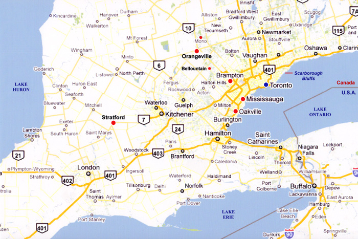 Map Of Southern Ontario Travel Pix   Southern Ontario Map Of Southern Ontario