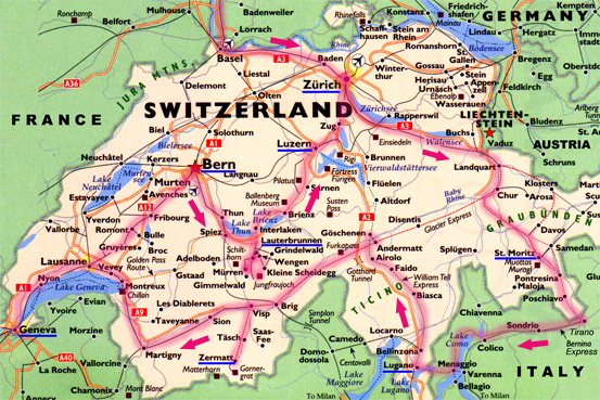 Interlaken Switzerland Map – Tourist Map of Switzerland