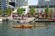 Kayaks at Harbourfront